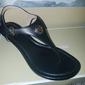 New michael kors black sandals size 6
